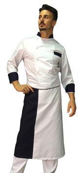 Completo Cuoco  con rifiniture Navy