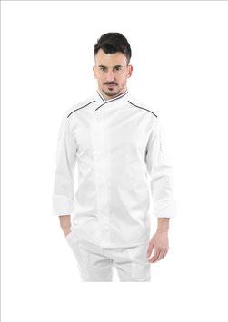 Giacca cuoco uomo Executive  Bianco/Nero
