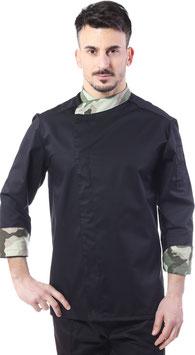 Giacca cuoco uomo Gessi Nero/Militare chiaro