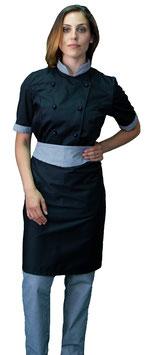 Completo Cuoco Lady M/C  Nero/Pied de Poule