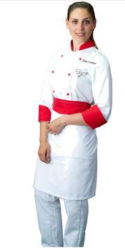 Completo chef donna Bianco/Rosso M/L RITROVO DELLO CHEF