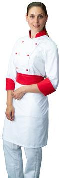 Completo Cuoco Lady Bianco/Rosso