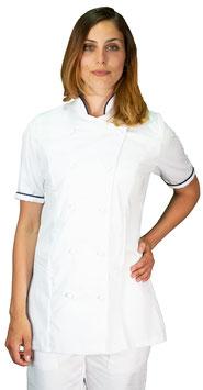 Giacca cuoco Lady M/C Bianco/Navy