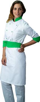 Completo Cuoco Lady Bianco/Verde