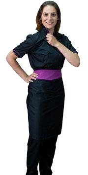 Completo Cuoco Lady M/C  Nero/Viola