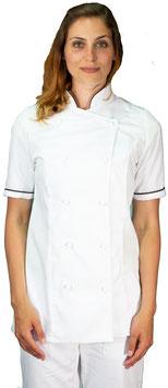 Giacca cuoco Lady M/C Bianco/Cioccolato