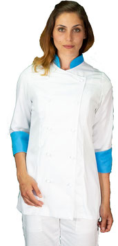 Giacca cuoco Lady Bianco/Ciano