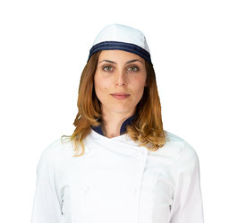 Bandana Bianca/Blu navy