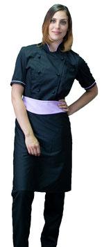 Completo Cuoco Lady M/C  Nero/Lilla