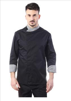 Giacca cuoco uomo Gessi Nero/principe di galles