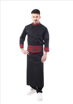 Completo Cuoco jessy scozzese rosso