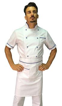 Completo Cuoco Bordato, Manica corta
