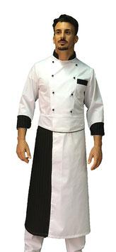 Completo Cuoco  con rifiniture Nero Gessato
