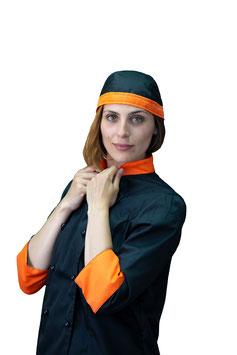 Bandana Nera/Arancione