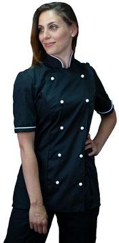 Giacca cuoco Lady M/C Nero Strass
