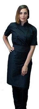 Completo Cuoco Lady M/C Nero