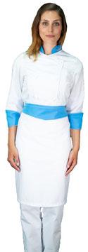 Completo Cuoco Lady Bianco/Ciano