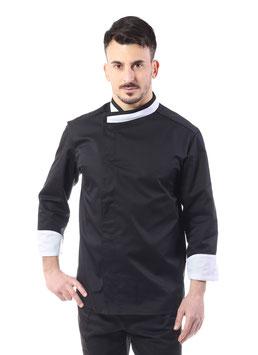 Giacca cuoco uomo Messi Nero/BIANCO