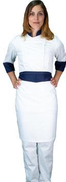 Completo Cuoco Lady Bianco/Navy