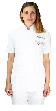 Giacca chef basic Donna Bianca M/C RITROVO DELLO CHEF