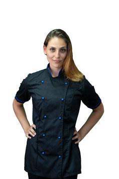 Giacca cuoco Lady M/C Nero/Royal