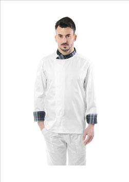 Giacca cuoco uomo Gessi Bianco/Scozzese Grigio