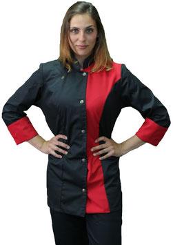 Giacca Cuoco Lady Press Nero/Rosso