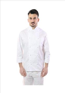 Giacca cuoco Bianco Basic Uomo Manica Lunga
