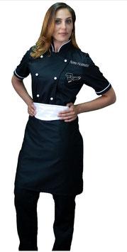 Completo chef donna Nero/Bianco M/C RITROVO DELLO CHEF