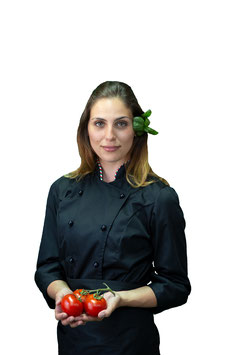Giacca cuoco Lady Nero/Italia