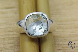 Ring Silber mit blauem Swarovskistein