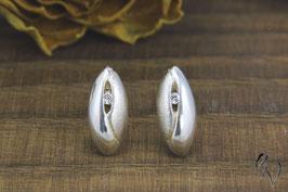 Kleine Ohrstecker aus Silber 925/- mit Zirkonia