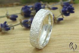 Ring Silber 925/-, Zerknittert