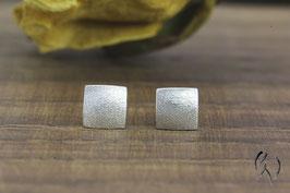 Ohrstecker Silber 925/-, Miniquadrat mattgeschlagen
