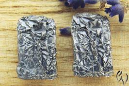 Ohrstecker Silber 925/-, Zerknittert, geschwärzt