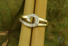 Ring Gold 585/- mit 8 Diamanten