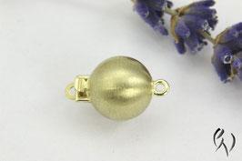 Perlschließe Gold 585/-, 9 mm, mattiert