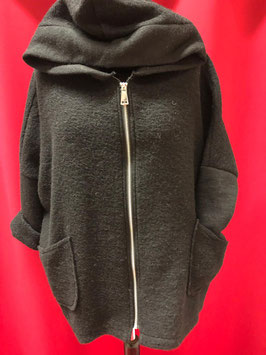 Modische Wolljacke in schwarz