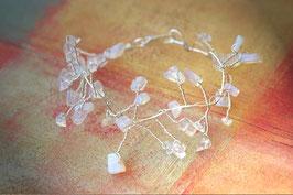 Bracelet en grappes d'opale et de cristal de roche