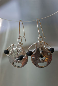 Boucles d'oreilles rondes en métal léger