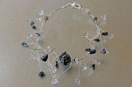 Bracelet en hématites et quartz