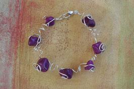 Bracelet en pierres violet