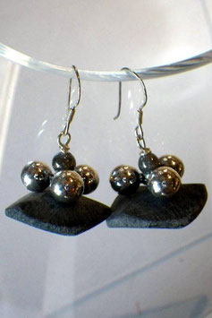 Boucles d'oreilles buffle et métal