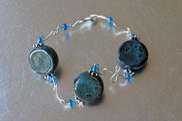 Bracelet céramique bleu profond