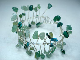 Bracelet manchette vert