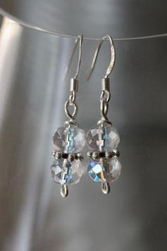 Boucles d'oreilles verre à facettes cristal