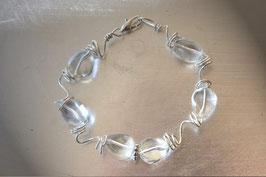 Bracelet en galets de verre