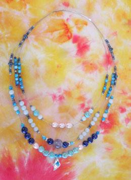 Halskette dreifach