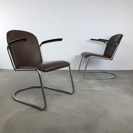 Set of 2 Gispen Lounge Chairs 413, 1950s