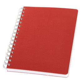 LinoBook® DIN A5 Rot – Notizbuch mit Einband aus Linoleum